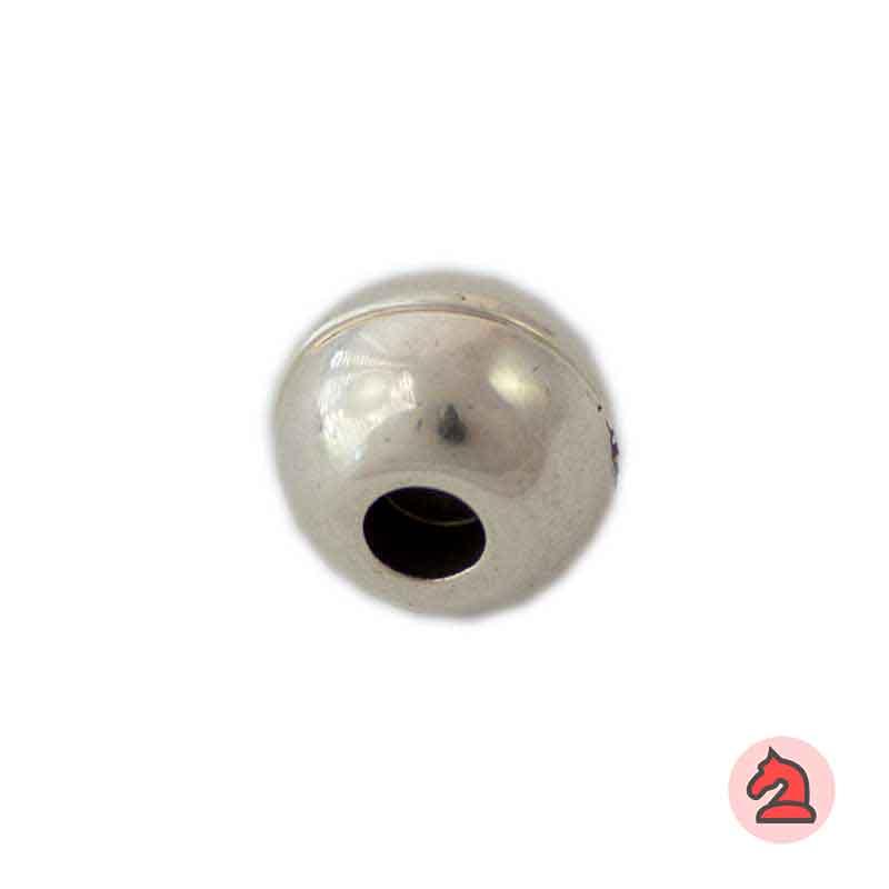 Cierre Bola imantado 12 mm. Agujero 5,5 mm - Paquete de 25 unidades