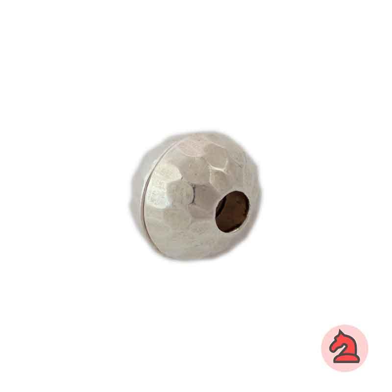 Cierre bola imán facetado 12 mm. Agujero 5,5 mm - Paquete de 25 unidades