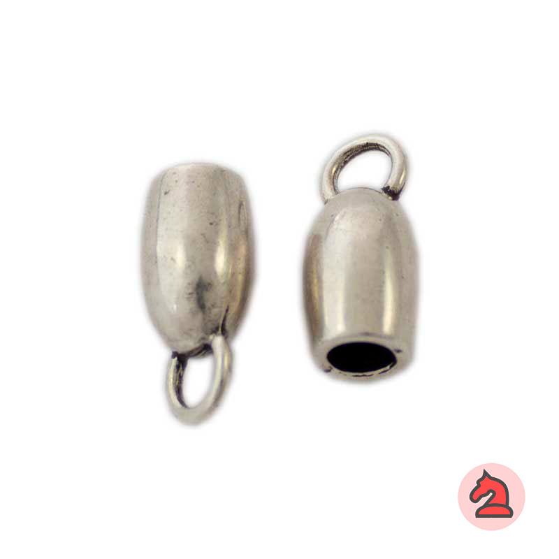 Terminal campana con anilla. Para Cordón 5mm - Paquete de 25 unidades