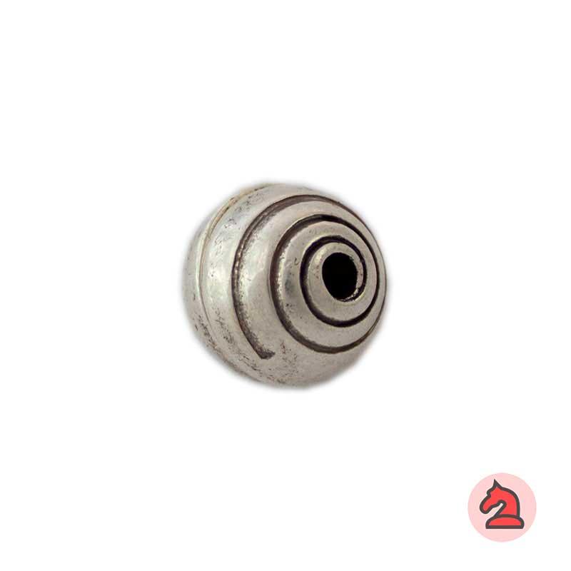 Cierre Imán Bola con espiral 12 mm. Agujero 2,7 mm - Paquete de 25 unidades