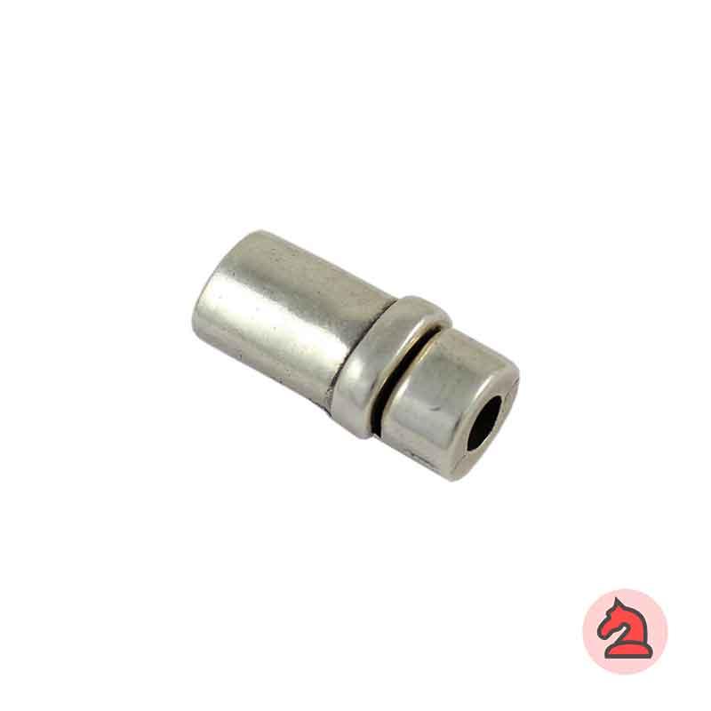 Cierre Imán 27X12 mm. Para cordón de 5mm - Venta por bolsa de 10 uds