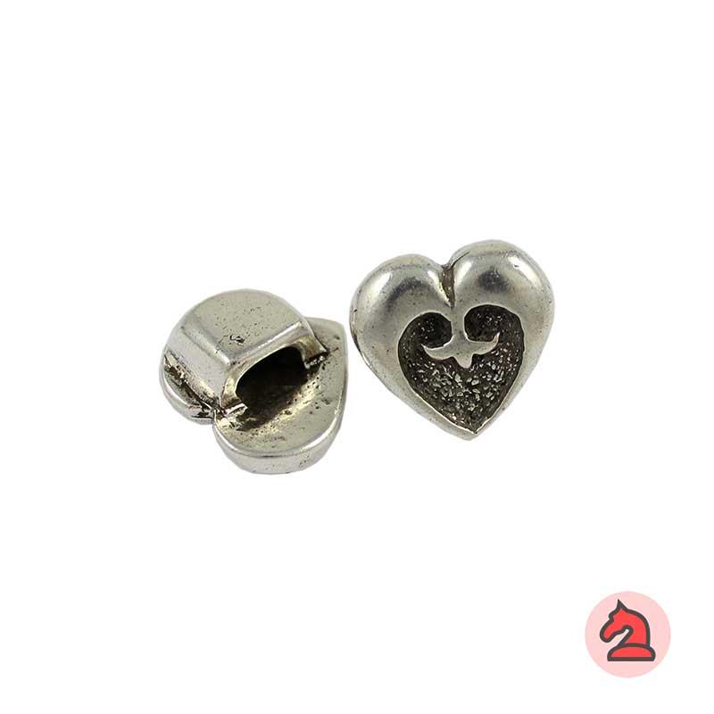 Cierre botón corazón - Venta por paquetes de 10 unidades