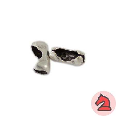 Cierre para cadena bola pequeña - Venta en bolsa 25 unidadesMedida 14X6mmPara bola 4,5mm