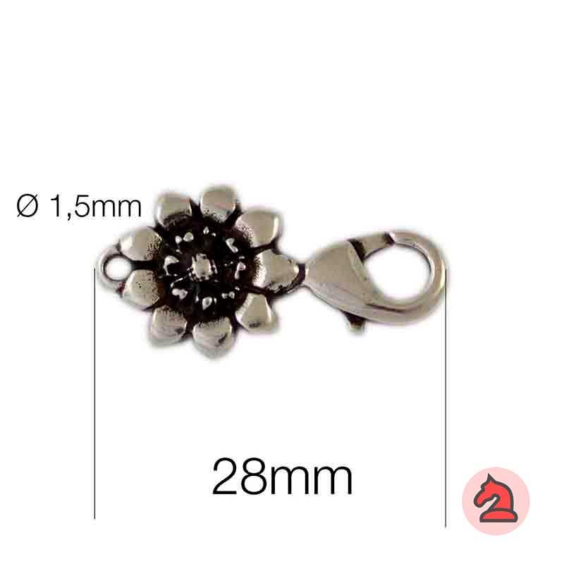 Cierre mosquetón-flor - Venta en bolsa de 20 unidades