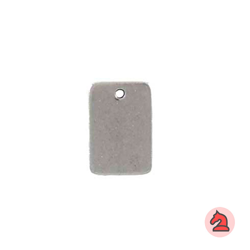 Chapa personalizable rectangular 30X20 mm con agujero 2 mm