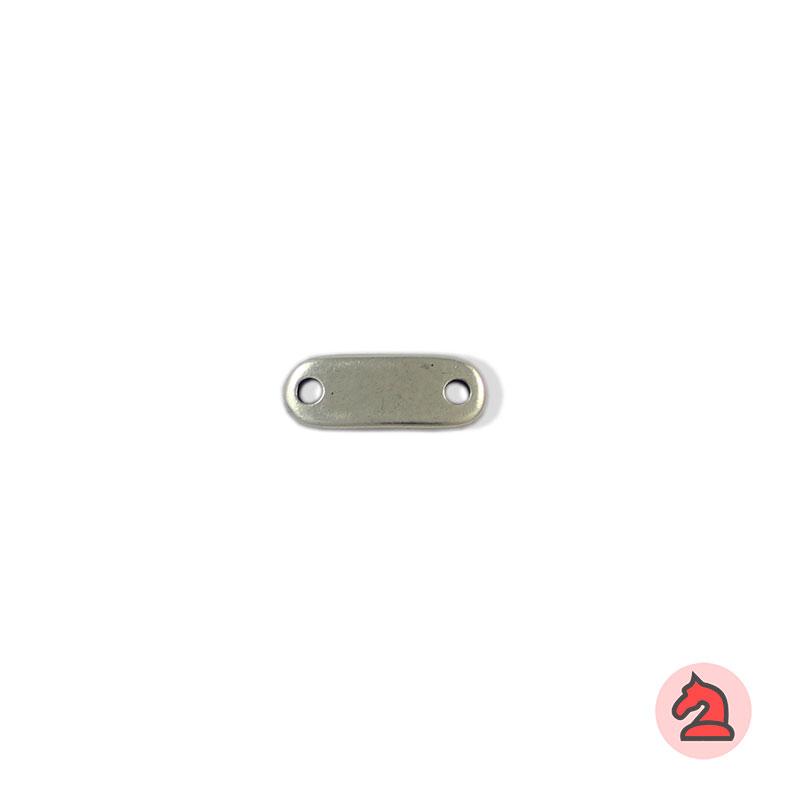 Chapa personalizable - Paquete de 30 unidadesTamaño aproximado 19X7 mm, grosor: 1.8 mm, agujeros para cordón de 2 mm
