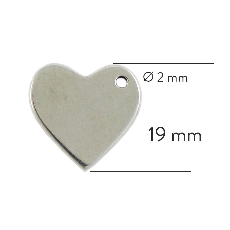 Corazón para grabar - Bolsa de 30 unidades