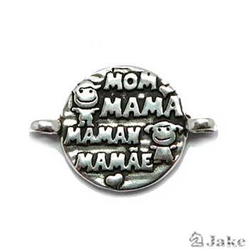 Medalla MAMA - MOM 24 mm. 2 Anillas para 3,5 mm - Paquete de 15 unidades