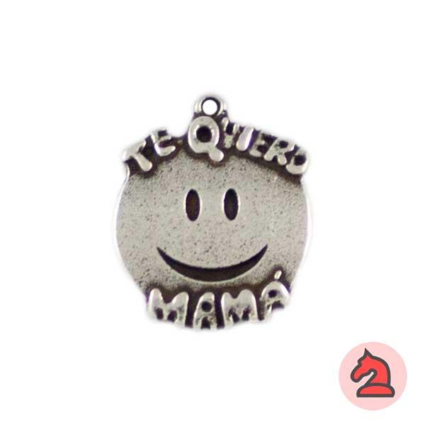 Smile Te Quiero Mamá 18mm. Anilla 1mm - Bolsa de 20uds