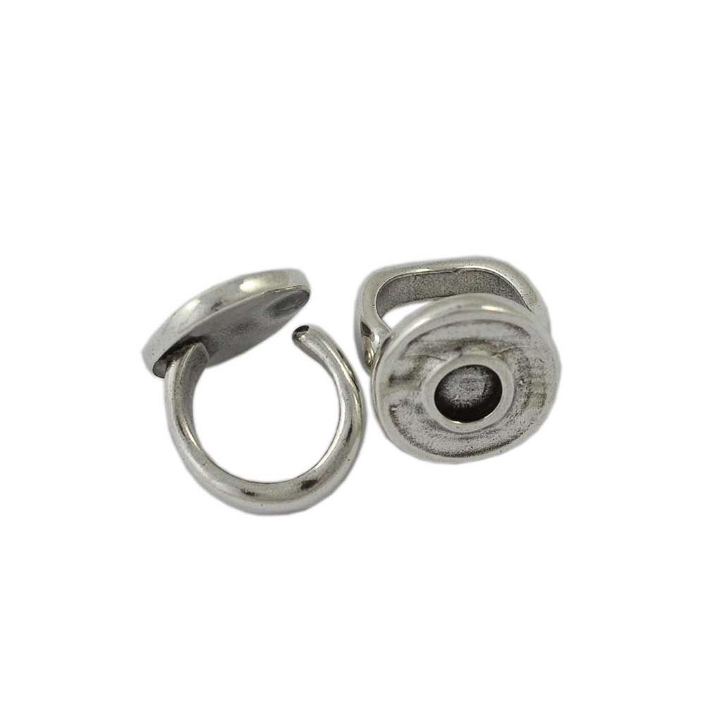 Anillo ajustable base redonda 22 mm. Cristal de 8 mm