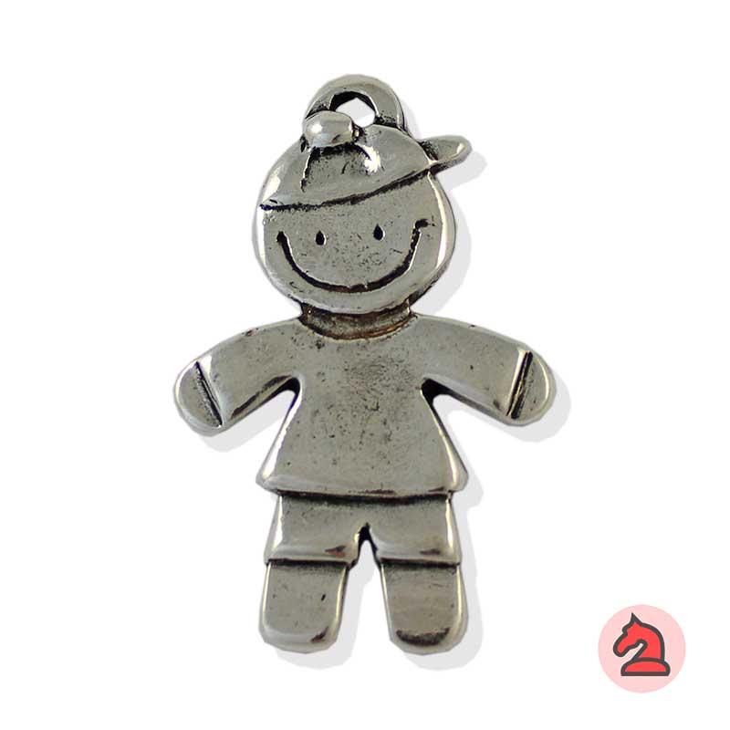 Colgante niño | Colección niños - Paquete de 10 unidadesTamaño aproximado 50X20 mm, anilla para cordón de 3 mm