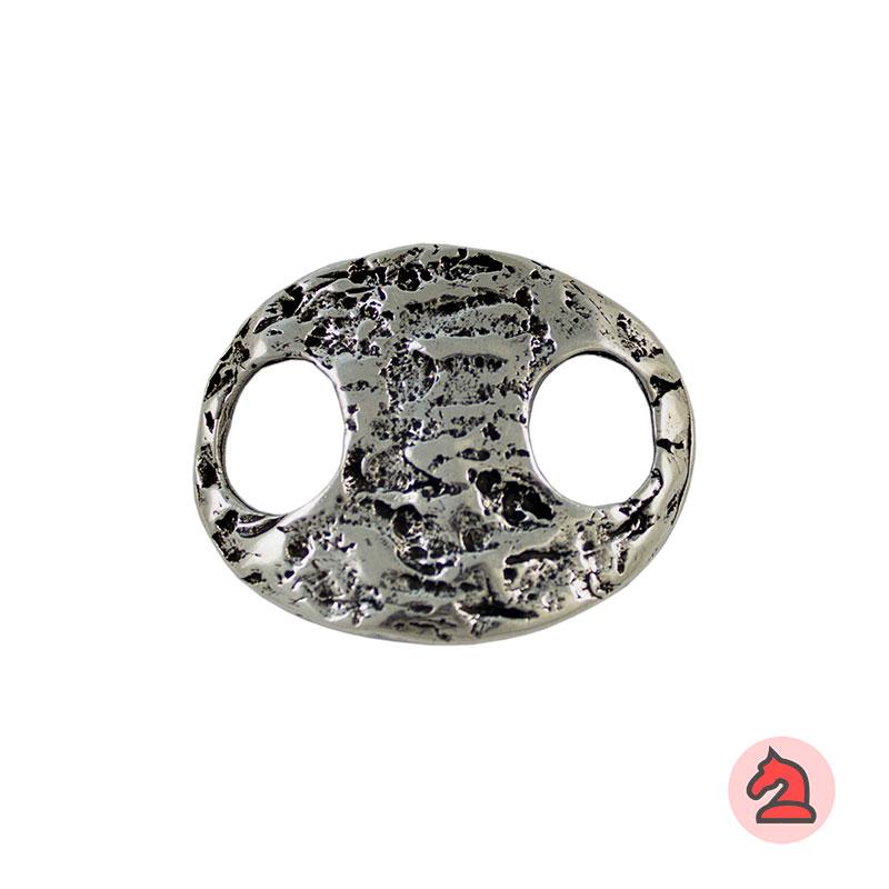Calabrote cóncavo textura rugosa - Paquete de 10 unidades Tamaño aproximado 43X34mm, agujeros 11 mm, grosor 2 mm