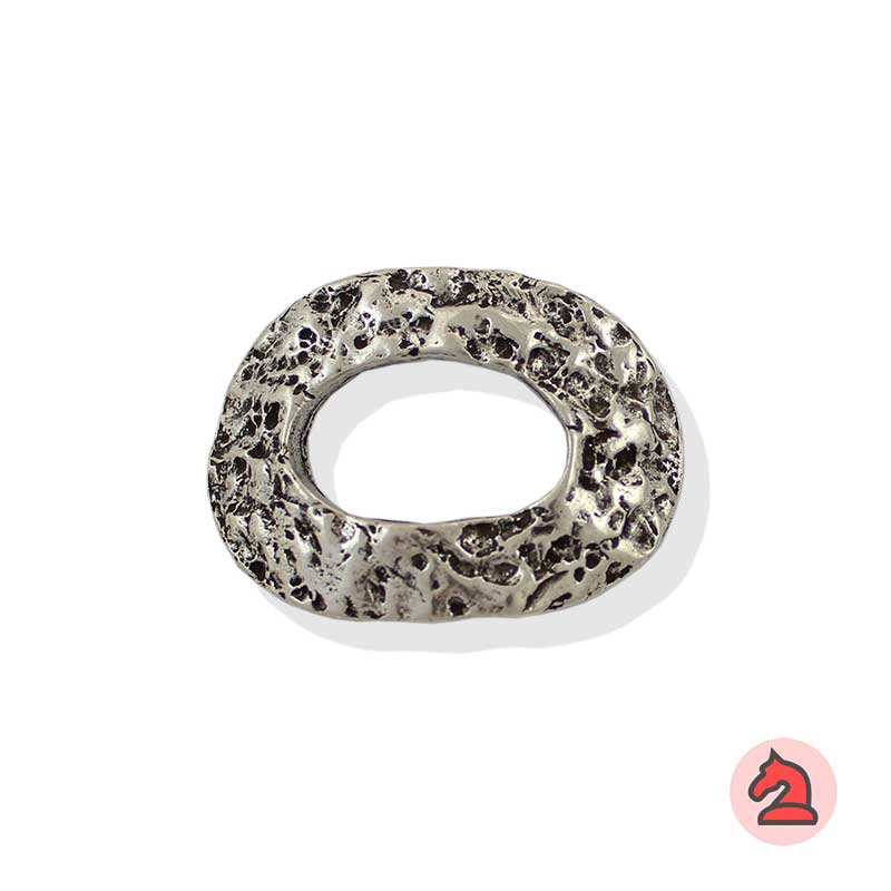 Aro ovalado textura piedra 42X32 mm - Paquete de 10 unidades