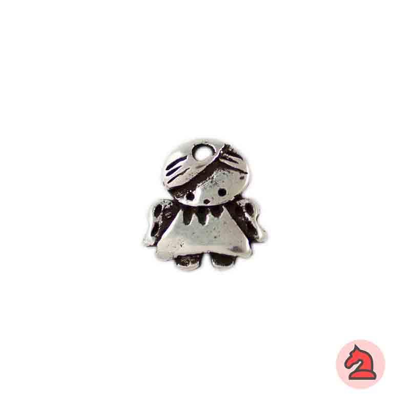Charm angelito de la guarda - Paquete de 30 unidadesTamaño aproximado 18X17mm, agujero 2.5mm