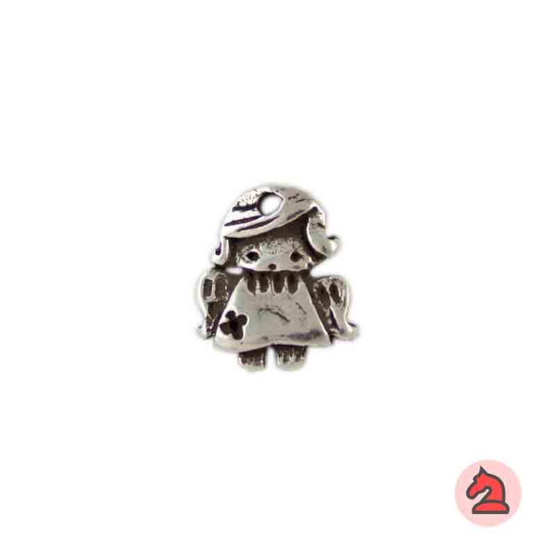 Charm angelita de la guarda - Paquete de 30 unidadesTamaño aproximado 19X16 mm, agujero 2,5mm