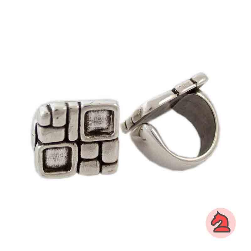 Anillo Cuadros 24X24 mm - Bolsa de 6 uds2 muescas cuadradas de 8 mm