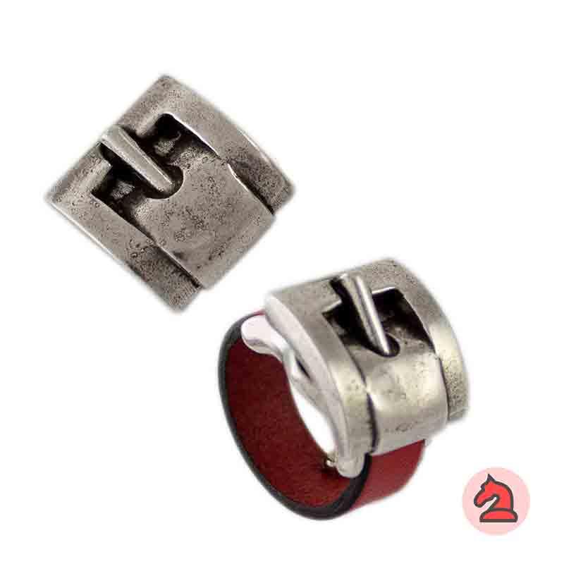 Complemento para base de anillo hebilla 20X19mm - Paquete de 6 unidades