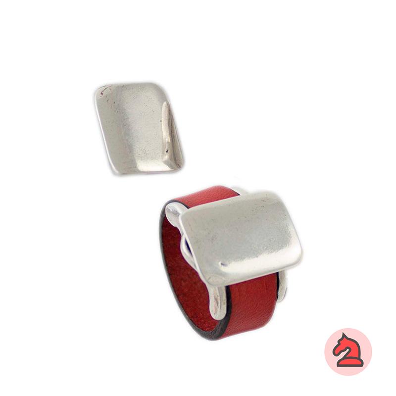 Complemento para base de anillo placa rectangular 19X14mm - Paquete de 6 unidades