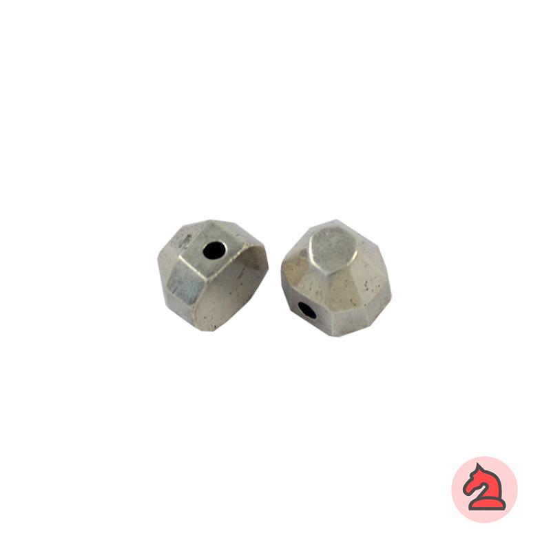 Piedra Complemento facetado 12X12 mm. Taladro 2,5 mm - Paquete de 5 unidades