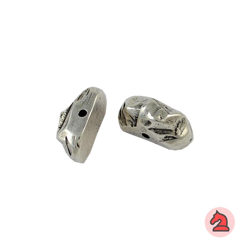 Piedra Complemento textura roca 26X12 mm. Taladro 2,5 mm - Paquete de 5 unidades