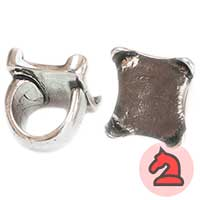 Anillo ajustable 25 mm. Para piedra de 25X25 mm - Venta por pack de 5 uds
