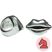 Anillo ajustable 26X23 mm. Beso - Venta por pack de 5 uds Debes seleccionar la talla*