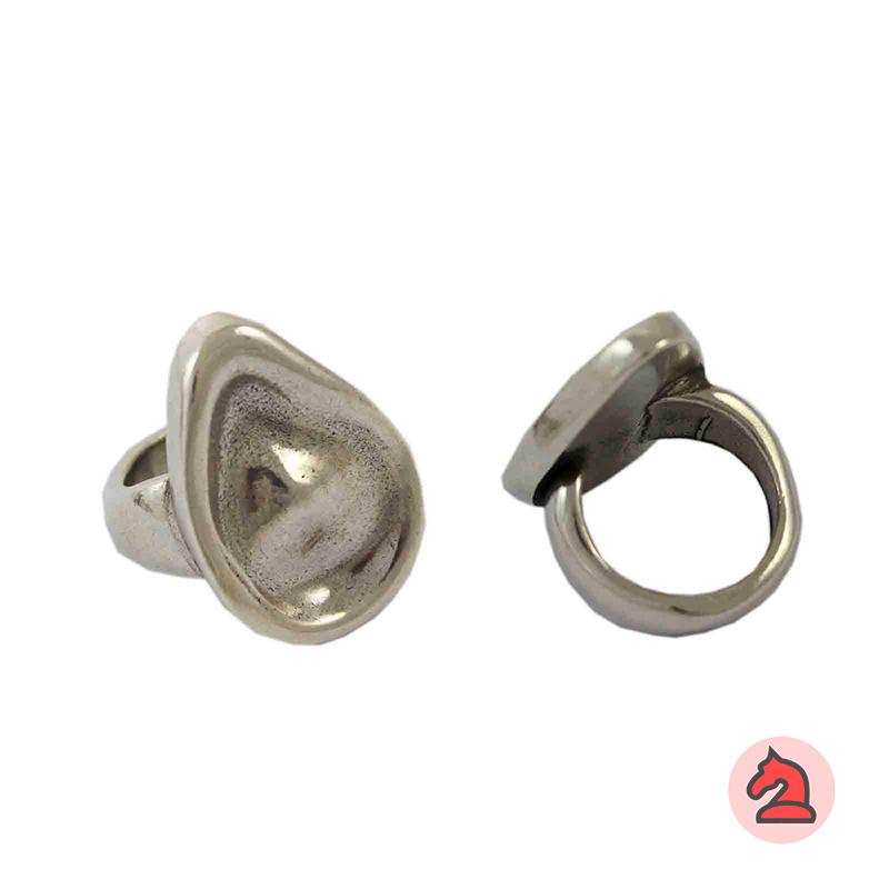 Anillo ajustable gota para personalizar - Bolsa de 5 uds  Tamaño de la decoración: 34X16 mm