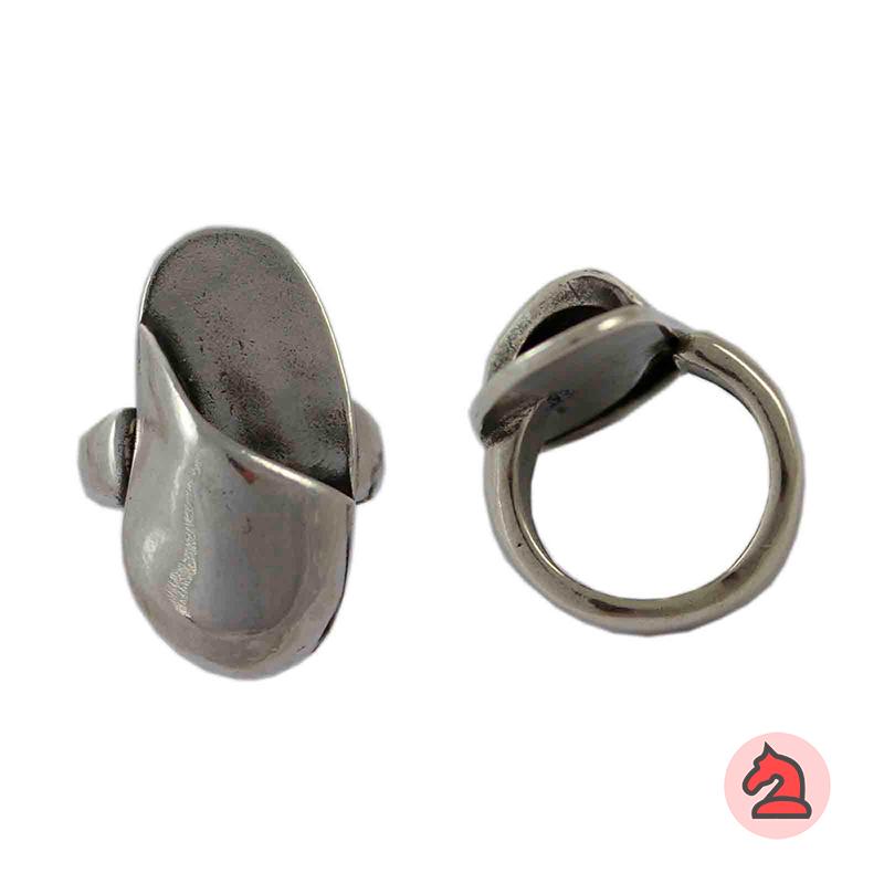 Anillo ajustable oval para personalizar - Bolsa de 5 uds  Tamaño de la decoración: 34X16 mm