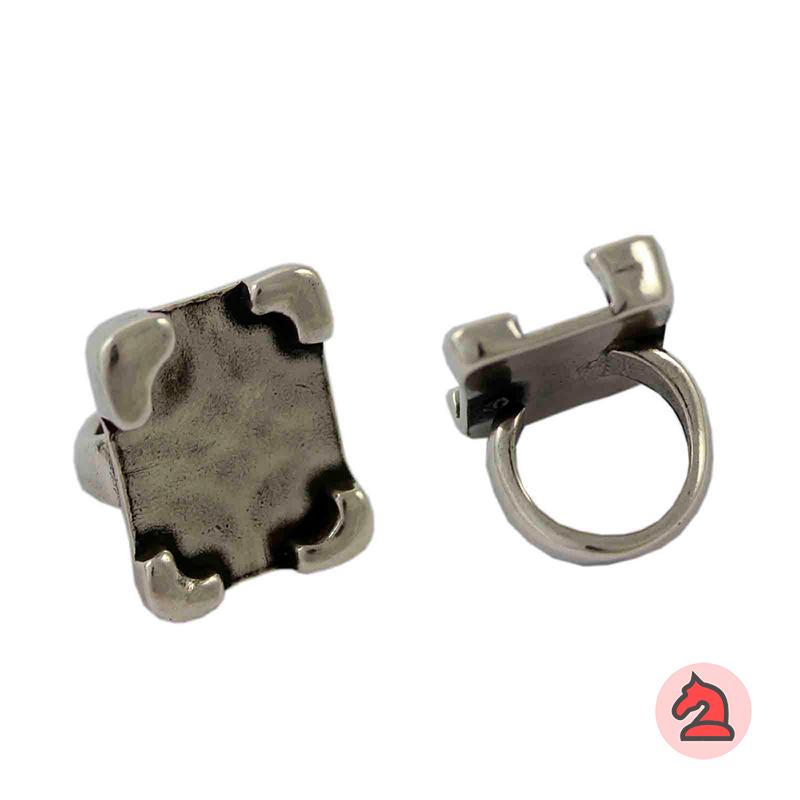 Anillo ajustable para personalizar - Bolsa de 5 uds  Tamaño de la decoración: 29X23 mm