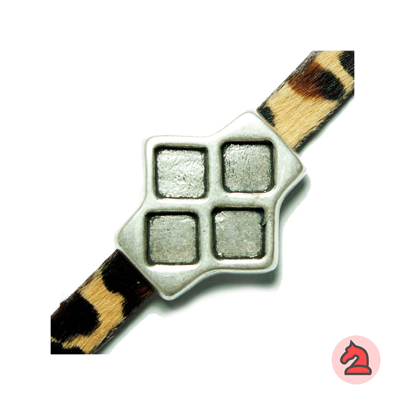 Pasador rombos - Paquete de 20 unidadesTamaño aproximado 32X30 mm, para decorar con resina base plana cuadrada de 8 mm