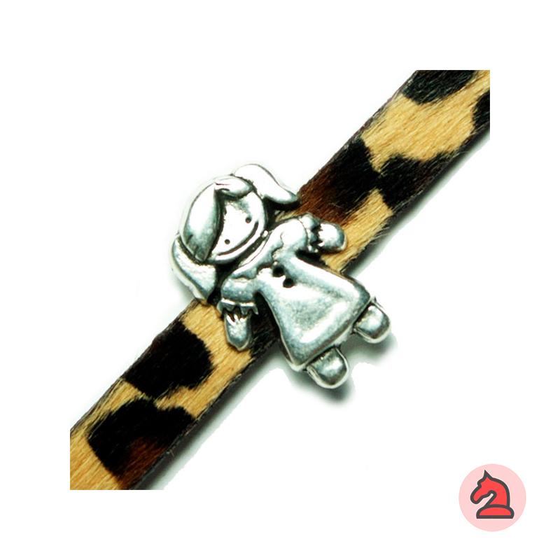 Pasador niña - Paquete de 30 unidadesTamaño aproximado 25X17 mm, pasador para tira de 10X2 mm