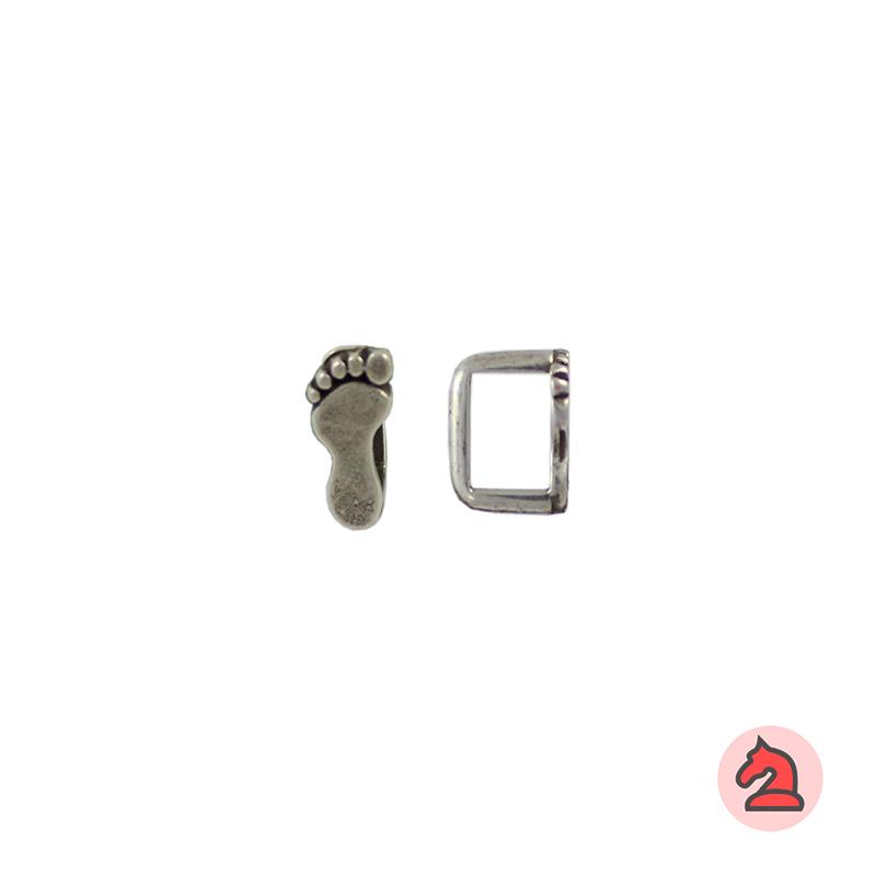 Pasador pie para cuero regaliz - Bolsa de 30 unidadesTamaño aproximado 12 mm, para cordón de 10X7 mm