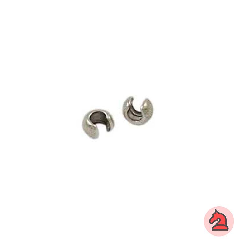 Chafa bola 2 - 2,5 mm - Venta por bolsa de 200 unidadesCaracterísticas: Chafa para cordón de 2 - 2,5 mm  Grosor de superficie 3,5 X 1 mm