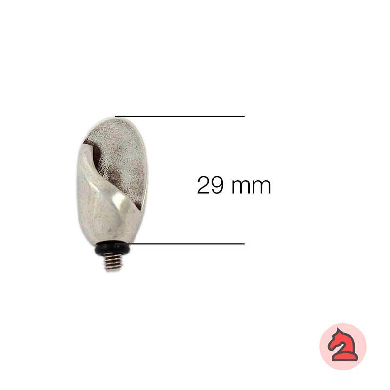 Complemento oval para pulsera - Bolsa de 5 uds