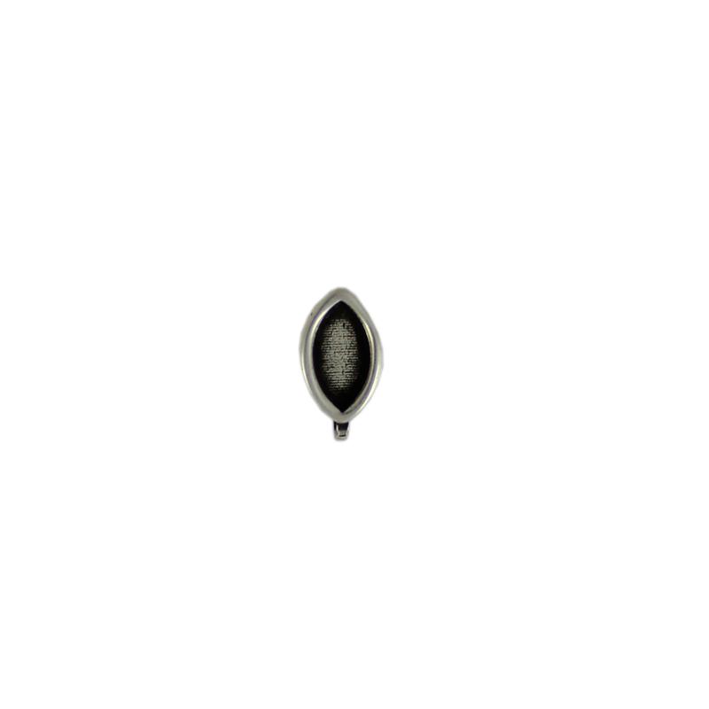 Pendiente oval - Bolsa de 20 uds Tamaño aproximado 13X8 mm, para piedra oval base plana de 10X5 mmLos pendientes en baño oro y solo en baño oro llevarán sus traseras