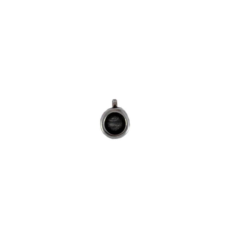 Charm redondo con anilla transversal de 1 mm - Bolsa de 30 uds Tamaño aproximado 9 mm, para piedra base de redonda de 6 mm