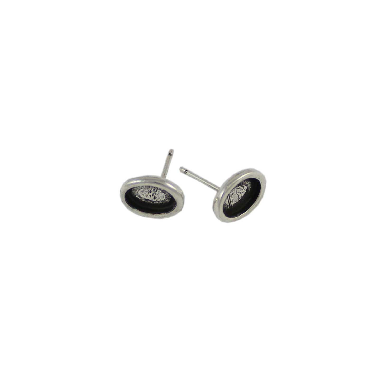 Base pendiente ovalado para cristal de 8X6mm - Bolsa de 30 unidades