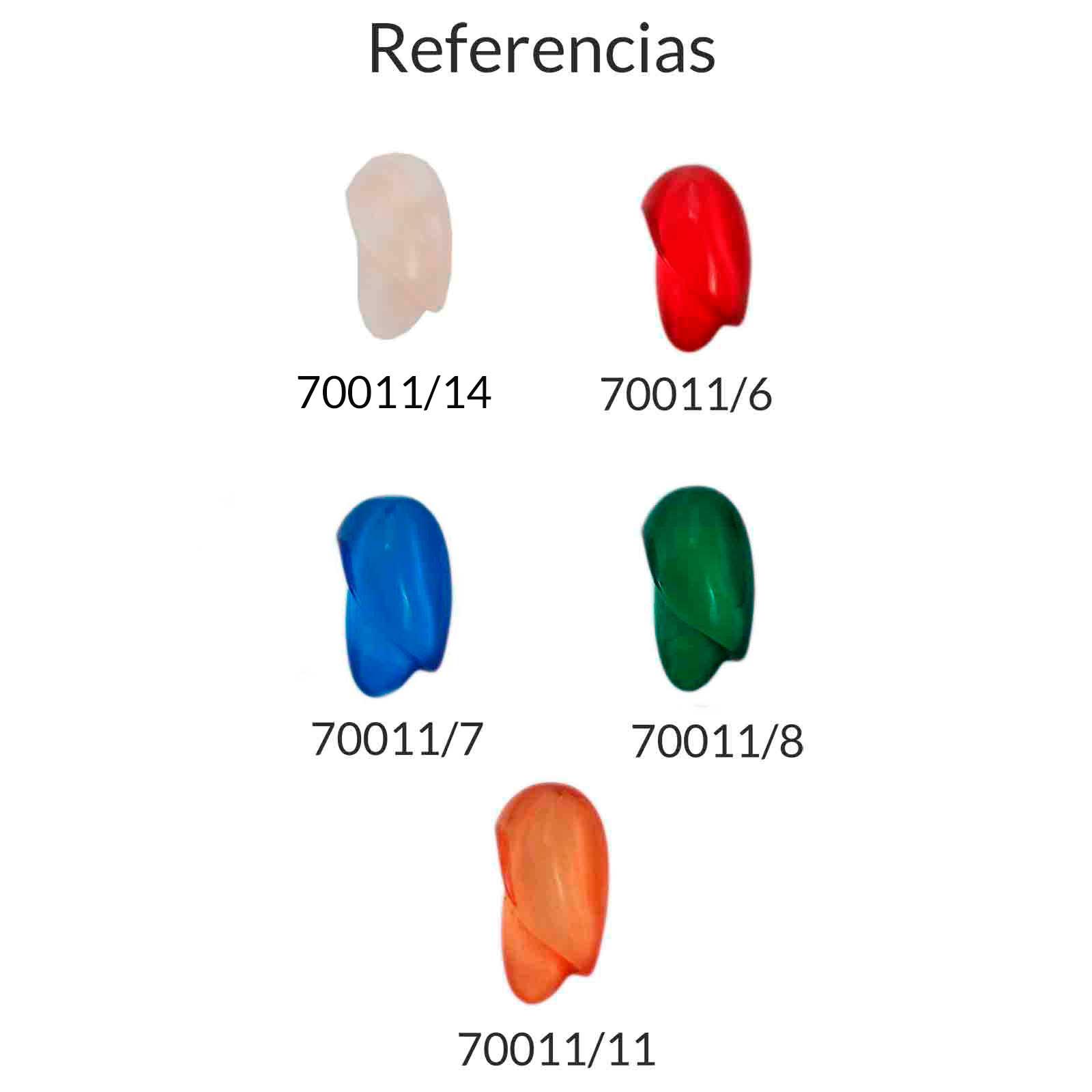 Resina ovalada irregular para complementar - Bolsa de 5 uds  Tamaño aproximado 25X12 mm