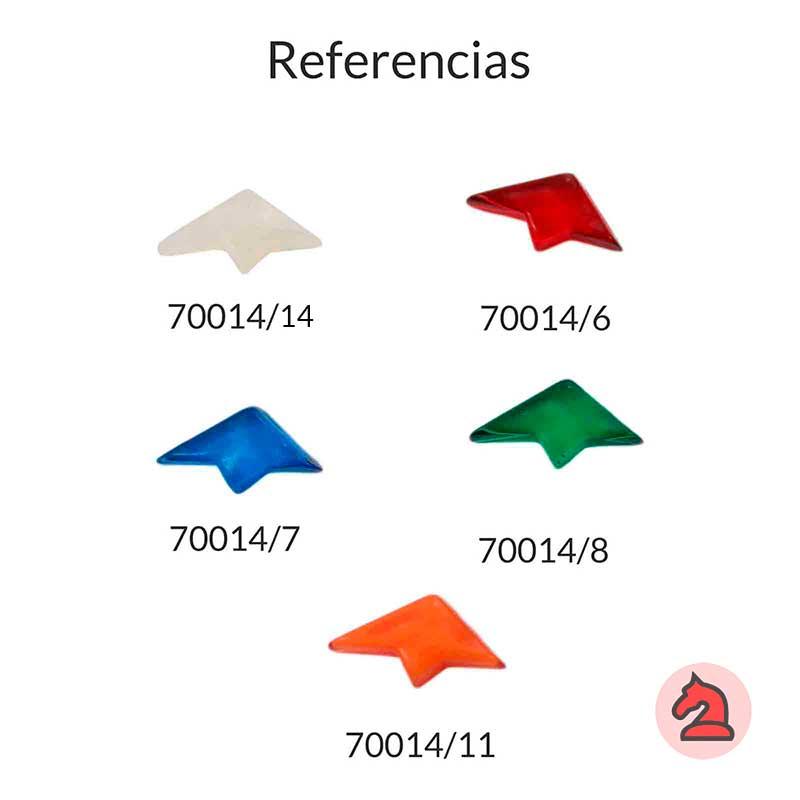 Resina tacha irregular para complementar - Bolsa de 5 uds  Tamaño aproximado 24X12 mm