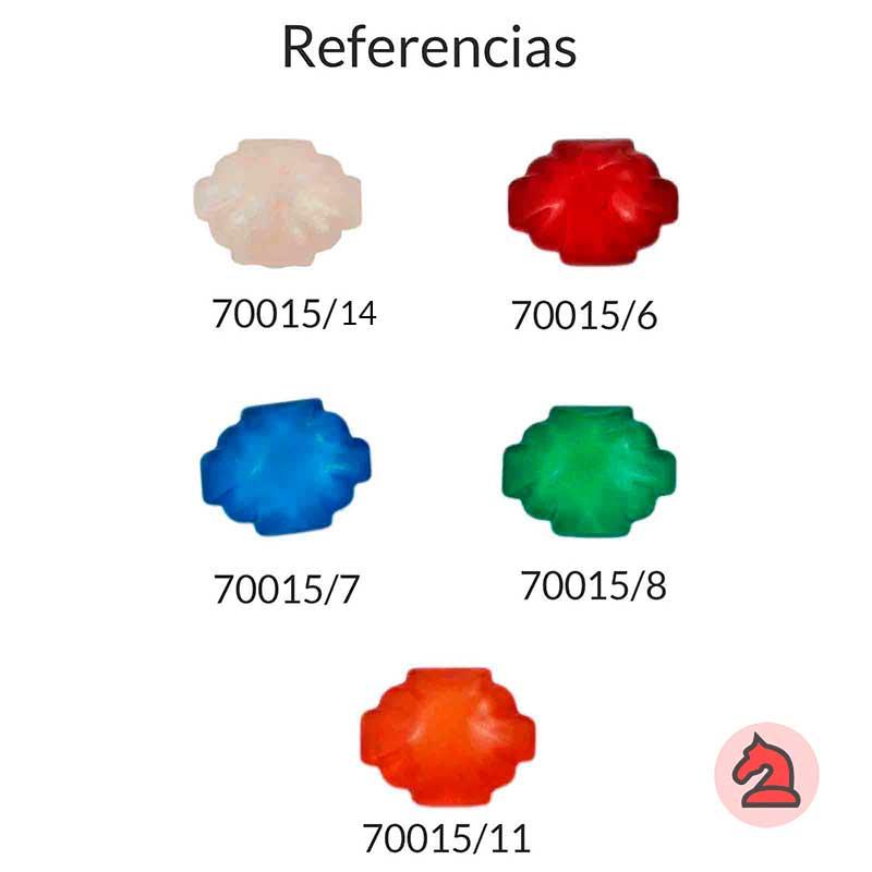 Resina tacha irregular para complementar - Bolsa de 5 uds  Tamaño aproximado 26X20 mm
