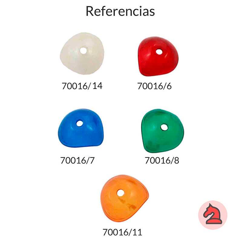 Resina campana irregular para complementar - Bolsa de 5 uds  Tamaño aproximado 24X9 mm