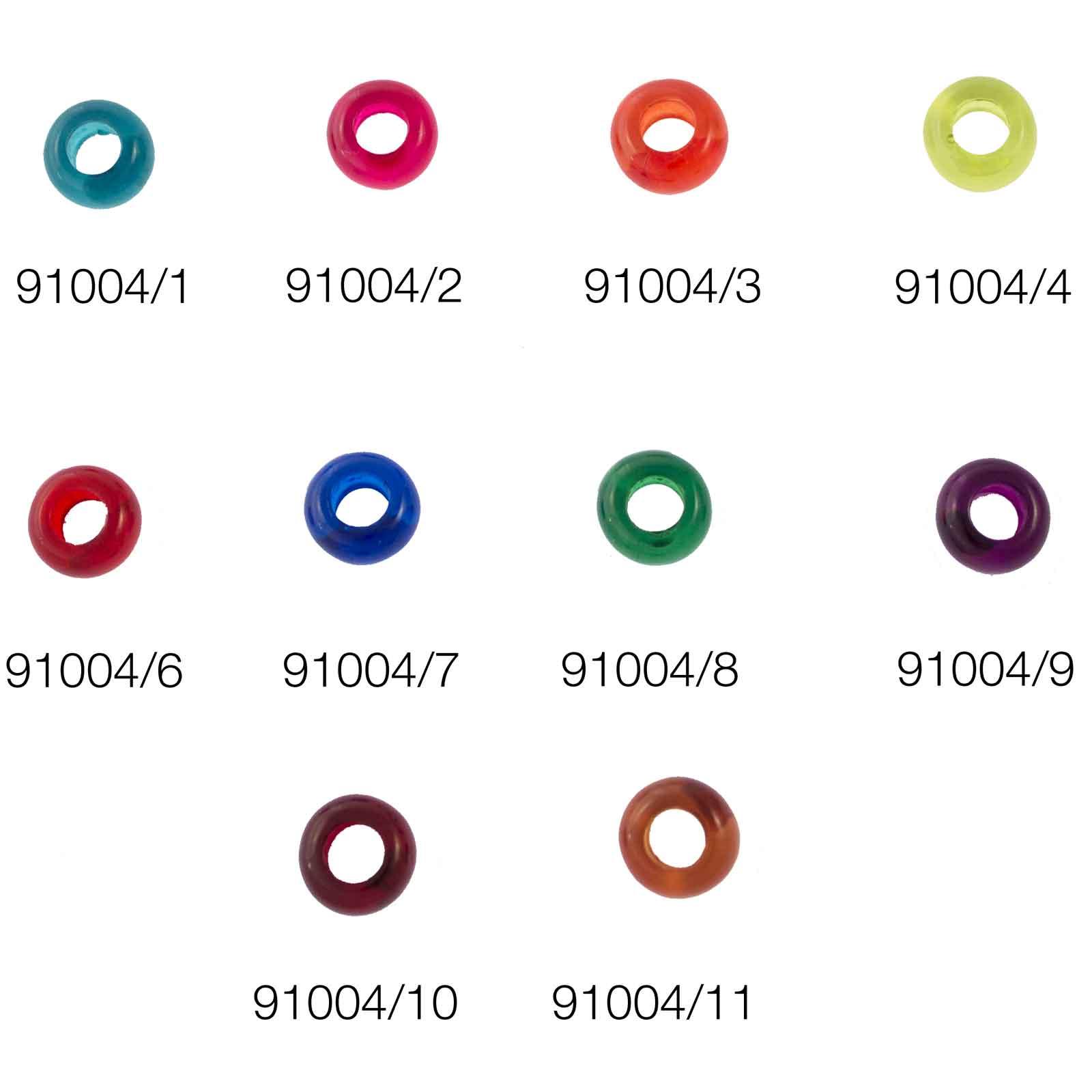 Donuts transparente - Medida aprox 10,5 mm Agujero 5mm Venta en bolsa de 20 uds