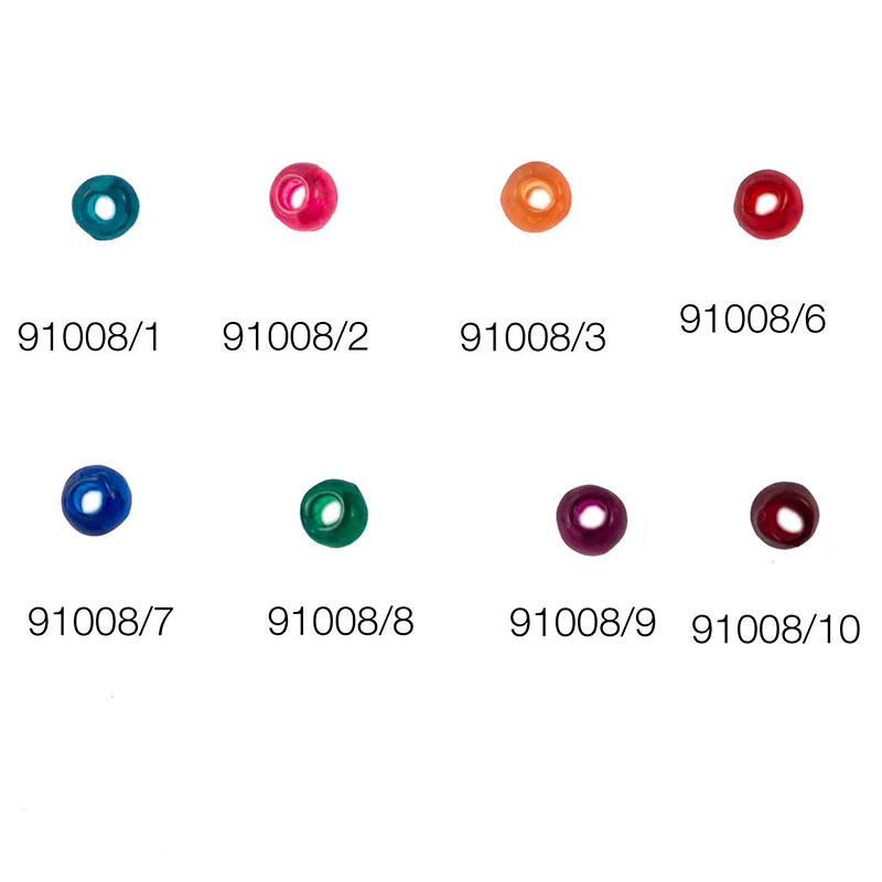 Donuts irregular transparente - Medida aprox 7 mm Agujero 2,5 mm Venta en bolsa de 40 uds