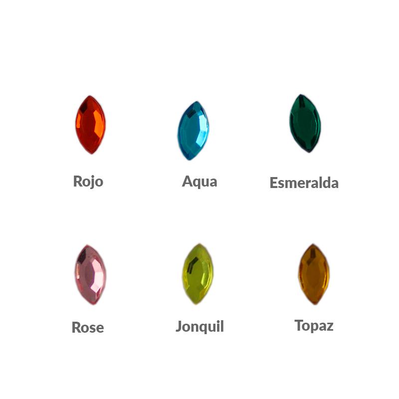 PlexyGlass Rosetta oval - Bolsa de 20 unidadesTamaño aproximado 10X5 mm