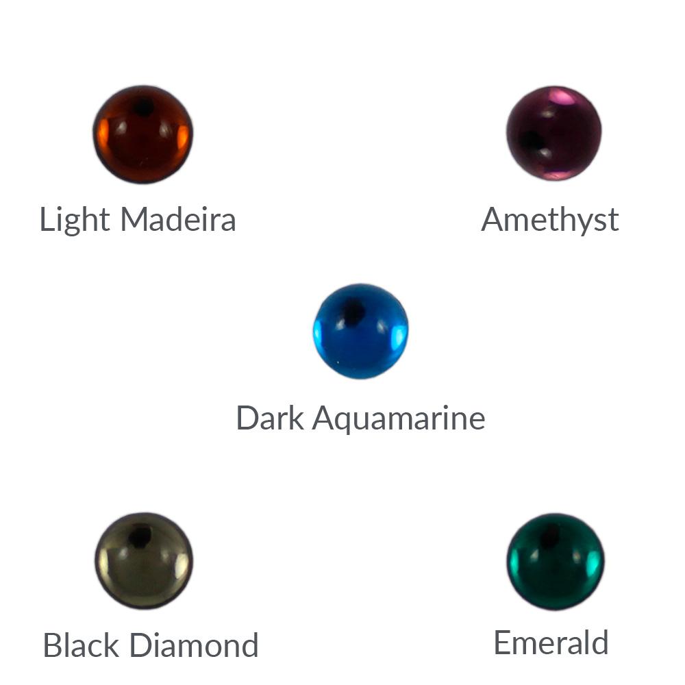 Cristal base redonda 7mm - Bolsa de 10 unidades
