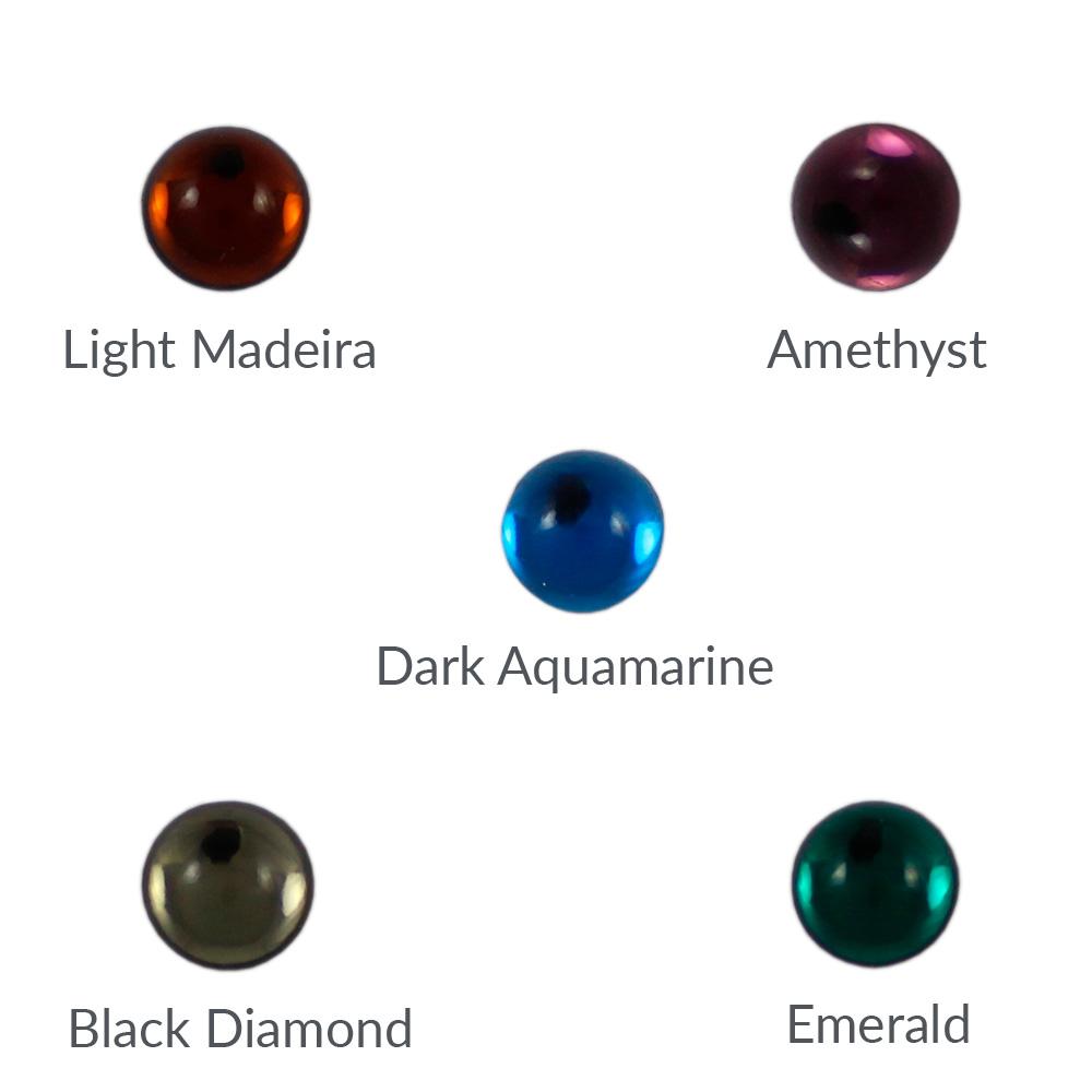 Cristal base redonda 8mm - Bolsa de 10 unidades