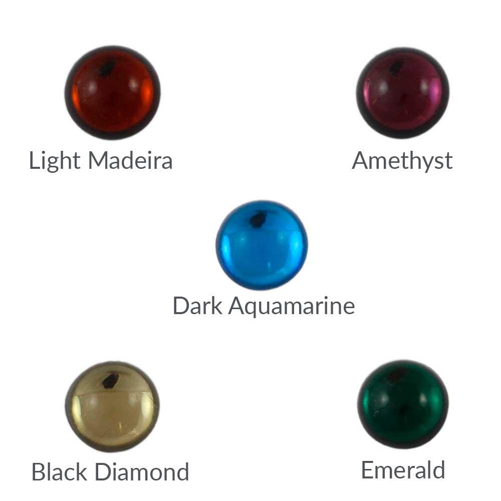 Cristal base redonda 15 mm - Bolsa de 10 unidades