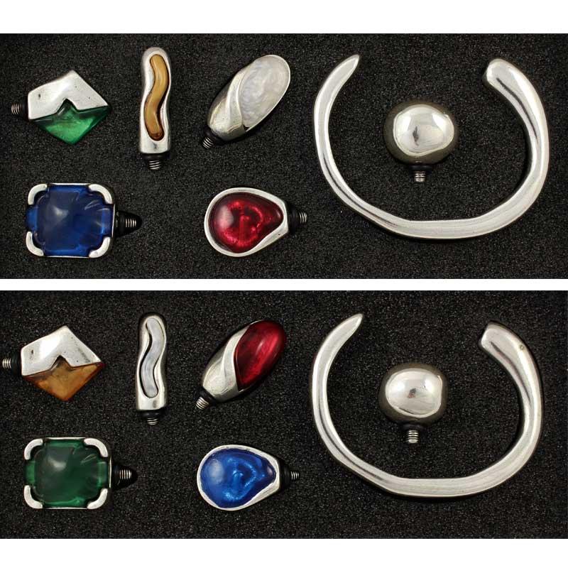 Set pulsera toledo - Venta por unidad Elige el código de color El set lo componen una pulsera Toledo más 6 complementos