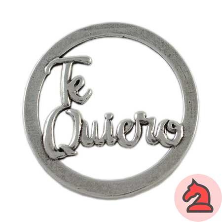 Colgante Te Quiero - Venta en bolsa de 5 unidadesTamaño aprox 53mmMaterial de zamak con 5 micras de plata