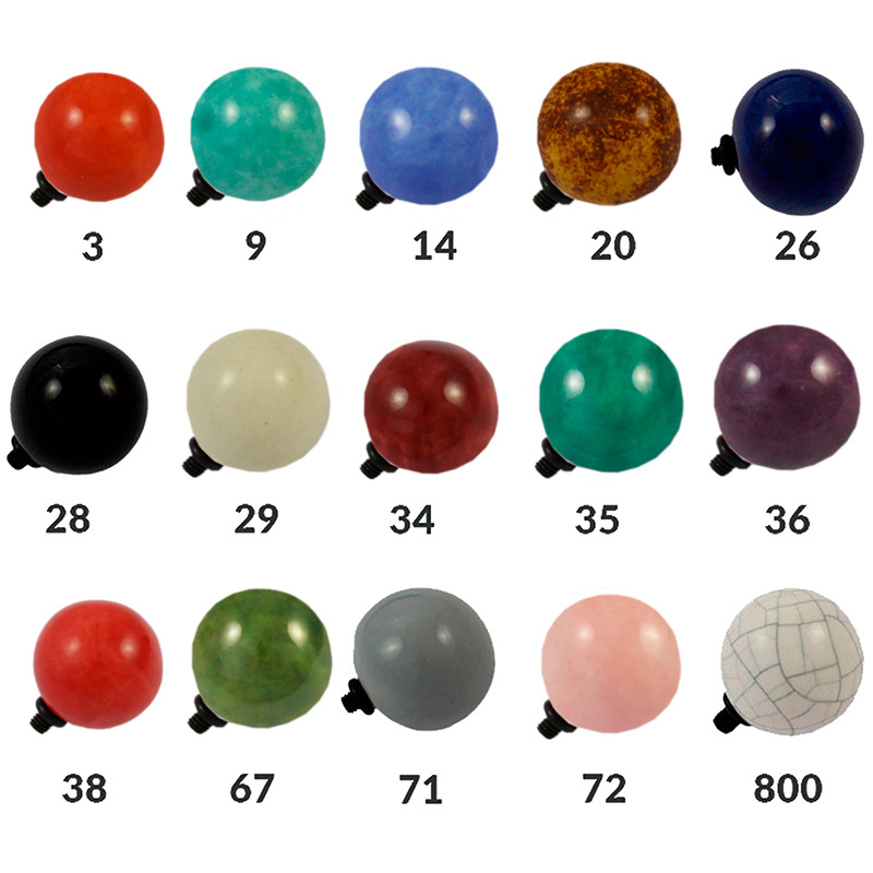 Bolas de cerámica - Bolsa de 5 unidades Tamaño aproximado 22 mm